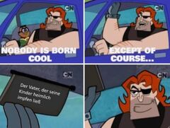 Nobody is born cool meme #1