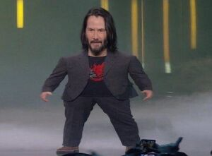 Short Keanu Reeves: blank meme template