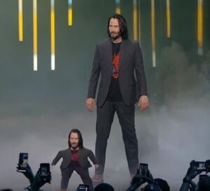 Short Keanu Reeves: blank meme template (with Keanu)
